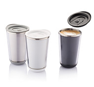 Transparent Classic Drinkware, 350 ml Heat-Insulated Leak-proof Stainless Steel Plastic Coffee Water Tumbler