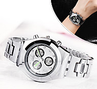 Women's Dress Watch Fashion Watch Simulated Diamond Watch Strap Watch Quartz Alloy Band Casual Elegant Silver