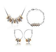 Schmuck 1 Halskette 1 Paar Ohrringe 1 Armreif Kristall Party Aleación 1 Set Damen Goldfarben Hochzeitsgeschenke