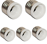 E27 to E14 Small Screw Converter Base Holder Socket for LED Light Lamp (5 Pieces)