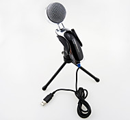 2017 New USB Useful hot wired high quality stereo condenser microphone with holder clip for chatting karaoke portable PC