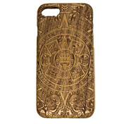 For Embossed Case Back Cover Case Skull Hard Wooden for Apple iPhone 7