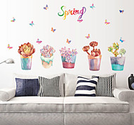 Florals Fantasy Potted Plants Wall Stickers Fashion Plane Butterfly Wall Stickers Decorative Wall Stickers Home Decoration Wall Decal