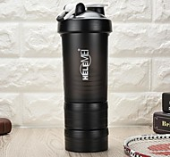 Fitness powdered glass protein shake of belt scale sports cup cup with plastic cup milkshake cup
