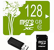 Plant Theme 128GB  Micro SD TF Card  with SD SDHC Adapter and Multi-function OTG USB Card Reader