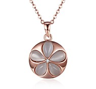 Necklace Multi-stone Pendant Necklaces Jewelry Daily Casual FlowerCircular Design Unique Design Flower Style Dangling Style Cute Style