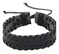 Women's Leather Bracelet Leather Punk Fashion Jewelry Black Brown Jewelry 1pc