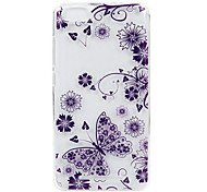 For Wikon Lenny3 phone Case  Purple Butterfly Lace Embossed Pattern TPU Material High Penetration