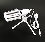 2017 New Useful hot wired high quality stereo condenser microphone with holder clip for chatting karaoke portable PC