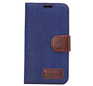 Для Бумажник для карт со стендом Флип Кейс для Чехол Кейс для Один цвет Твердый Искусственная кожа для HTC HTC One M9 HTC One M8