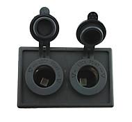 12v / 24v 2pcs адаптер прикуривателя разъем питания с держателем корпус панель для автомобиля лодки грузовик с.в.