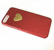 Para Antipolvo Funda Cubierta Trasera Funda Corazón Suave TPU para Apple iPhone 7 Plus iPhone 7 iPhone 6s Plus/6 Plus iPhone 6s/6