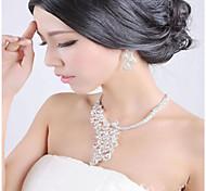 May Polly The elegant bride lucky bird Phoenix Rhinestone Necklace Earrings Set