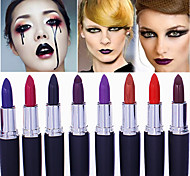 1Pcs Matte Band Makeup Vampire Dark Red Lip Tattoo Cosmetic Purple Waterproof Matte Lipstick Lot Labiales Matte