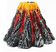 Aquarium Pipes Volcano Decoration Non-toxic & Tasteless Resin