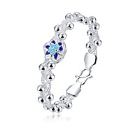 Bracelet Bangles Crystal Copper Silver Plated Flower Fashion Punk Hip-Hop Anniversary Gift Valentine Christmas Gifts Jewelry Gift Silver,