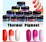 1g/Box The Temperature Change of Nail Polish Mirror Powder Chameleon Nail Powder