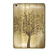 Für Geprägt Hülle Rückseitenabdeckung Hülle Baum Hart Holz für Apple iPad Air