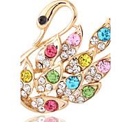 Simple fashion temperament all-match full diamond Swan Brooch 0194#
