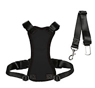 Dog Harness Car Seat Harness/Safety Harness Adjustable/Retractable For Car Solid Black Nylon