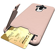For Huawei Mate 9 Case Cover Card Holder Shockproof with Stand Back Cover Solid Color Hard PC