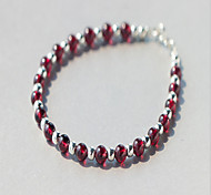 Bracelet Strand Bracelet Sterling Silver Star Natural Birthday Jewelry Gift Red,1pc