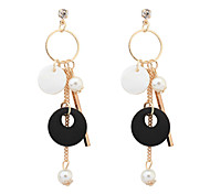 Drop Earrings Pearl Imitation Pearl Alloy Simple Style Black Red Green Jewelry Party Daily 1 pair