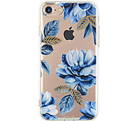 Назначение iPhone X iPhone 8 iPhone 7 iPhone 7 Plus iPhone 6 Чехлы панели Ультратонкий С узором Задняя крышка Кейс для Цветы Мягкий
