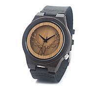 Women's Men's Skeleton Watch Fashion Watch Wood Watch Wrist watch Quartz / Wood Band Casual Brown