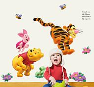 Животные Мультипликация Мода Наклейки Простые наклейки Декоративные наклейки на стены,Бумага материал Украшение дома Наклейка на стену
