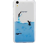 For Huawei Honor 5A Honor 5C Case Cover Penguin Pattern High Permeability TPU Material IMD Craft Phone Case
