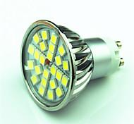4.5W GU10 Lâmpadas de Foco de LED MR16 24 SMD 5050 300 lm Branco Quente Branco Frio Regulável AC220 V 1 pç