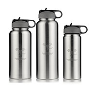 Classic Sports Outdoor Drinkware, 1000 ml Portable Leak-proof Stainless Steel Beer Water Water Bottle