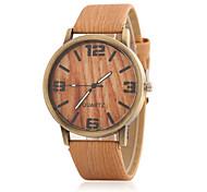 Unisex Modeuhr Uhr Holz Quartz Holz Band Bequem Schwarz Braun