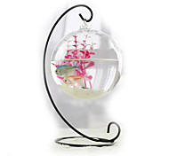 Mini Aquariums Decoration Glass Fish Tank Alloy Rack