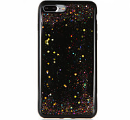 For Glitter Shine Case Soft TPU Drop Glue Colorful Stars Back Case for Apple iPhone 7 Plus iPhone 7 iPhone 6s Plus iPhone 6 Plus iPhone 6s iPhone 6