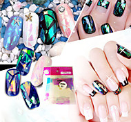 10pcs/set Nail Art Sticker  Water Transfer Decals Glitter & Poudre 3D Nail Stickers Makeup Cosmetic Nail Art Design