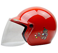 Zeus как-201 мотоцикл дети шлем половина шлем абс для 3-12 лет