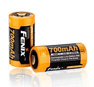 fenix 16340 700mAh 3.7v Li-ion recargable de baterías de ARB-l16-700