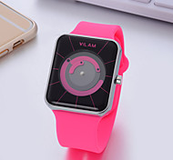 Women's Fashion Watch Quartz Silicone Band White Blue Green Pink