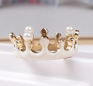 Ring Daily Casual Jewelry Gemstone & Crystal Alloy Ring 1pc,One Size White Rose Gold