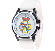Fashion Watch Quartz PU Band Black White Strap Watch