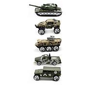 Vehículo militar Juguetes para vehículos 1:64 Metal Plástico Arco iris