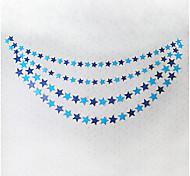 raylinedo® 1 Stück 4 Meter blau Papiergirlande für Hochzeit Geburtstag Party Weihnachten Mädchen Raumdekoration Sterne Form 10 * 10cm