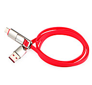 USB 2.0 Micro USB 2.0 Type C Flat All-In-1 Cable For Samsung Huawei Sony Nokia HTC Motorola LG Lenovo Xiaomi 100 cm PVC