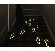 Cute Little Feet Noctilucent Stick Floor Post Wall