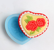 Heart-shaped And Flower Shape Soap Mold DIY Silicone Soap Mold Handmade Soap Salt Carved DIY Silicone Food Grade Silicone Mold