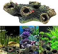 Aquarium Decoration Wood Resin Black