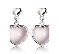 Crystal Heart Drop Earrings Jewelry Fashion Wedding Party Daily Casual Crystal Copper 1 pair Pink