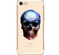 Para Transparente Estampada Capinha Capa Traseira Capinha Caveira Macia TPU para AppleiPhone 7 Plus iPhone 7 iPhone 6s Plus/6 Plus iPhone